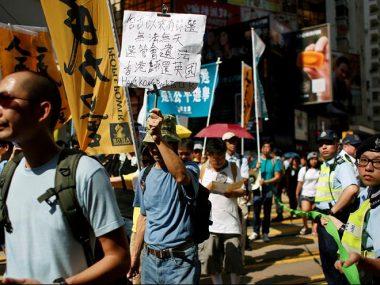 В Гонконге прошла демонстрация за независимость от Китая