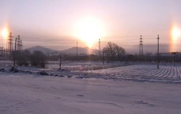 В китайском небе взошло три солнца