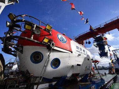 Китайский батискаф завершил свою первую подводную экспедицию