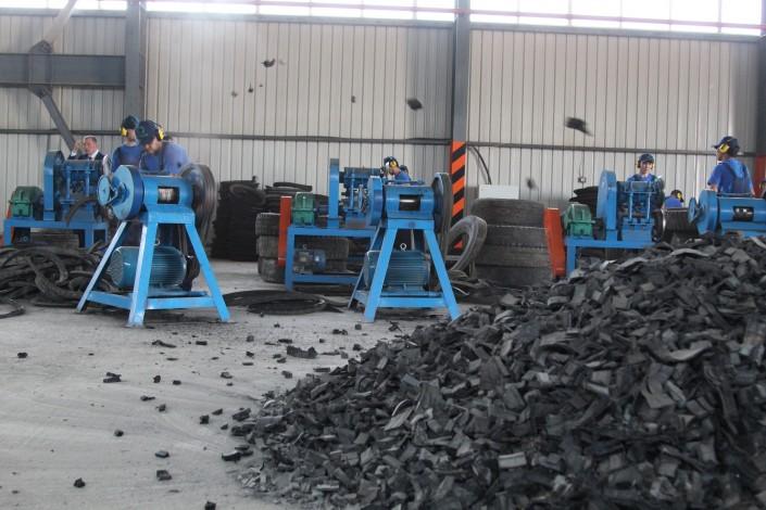 Китай построил «умную фабрику» по утилизации использованных шин