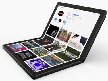 В Китае показали первый в мире гибкий ноутбук