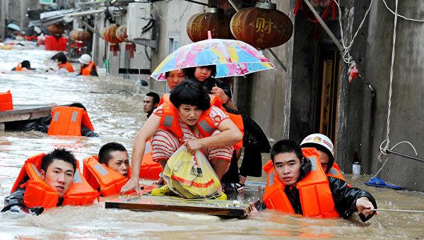 Наводнение в Китае затронуло более миллиона людей