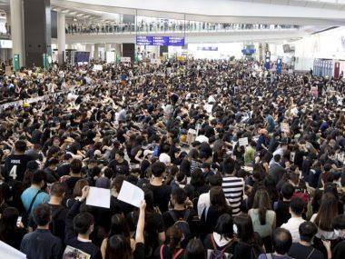 """Китай назвал протесты в гонконге """"терроризмом"""""""