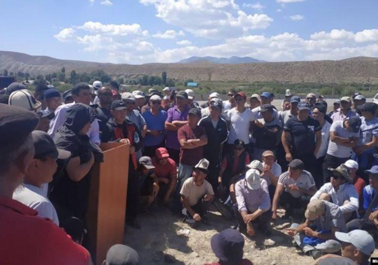 В Киргизии после акций протеста приостановлена работа китайского рудника Zhong Ji Mining
