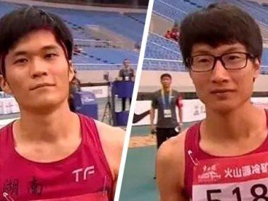 Две китайские легкоатлетки похожие на мужчин выиграли состязание по бегу в Китае