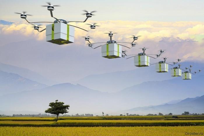 В Китае товары вместо курьеров будут доставлять дроны