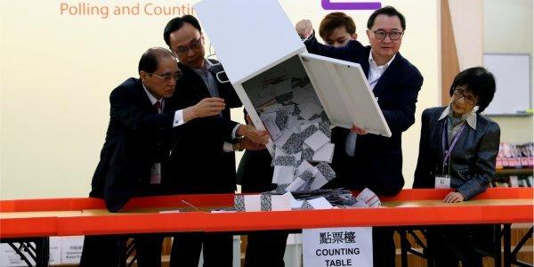 На местных выборах в Гонконге лидируют демократы