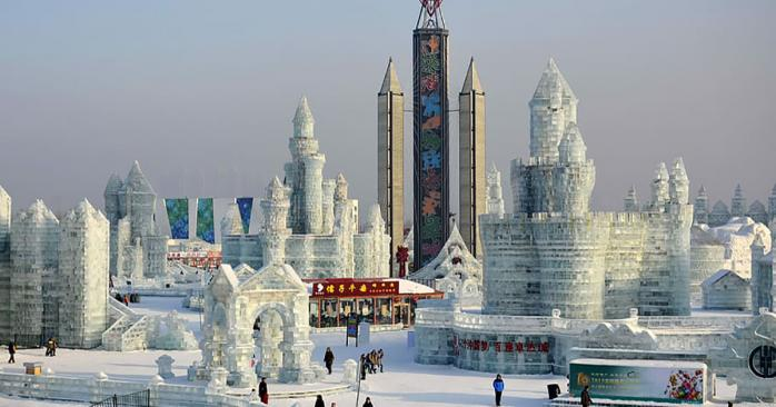 В китайском Харбине открылся парк ледовых скульптур
