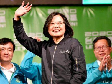 Тайвань вновь избрал президентом Цай Инвэнь, которая обещала дистанцироваться от Китая