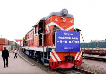 Из Китая в Европу отправился первый поезд с медикаментами для борьбы с коронавирусом