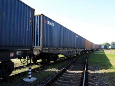 В Киев прибыл первый контейнерный поезд Китай-Украина