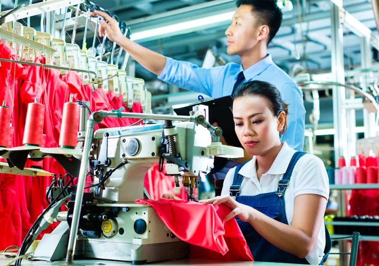 Выручка крупных предприятий швейной промышленности Китая снизилась на 18,47%