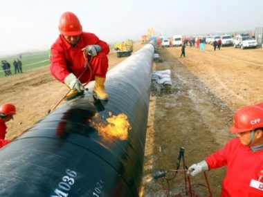 Китай начал строить новый участок российско-китайского газопровода «Восточный маршрут»
