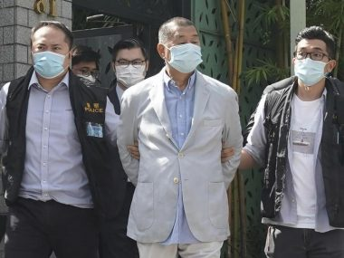 В Гонконге был арестован один из организаторов протестного движения - медиамагнат Джимми Лай