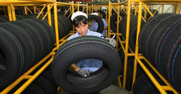 Экспорт шин из Китая сократился на 21% за полугодие
