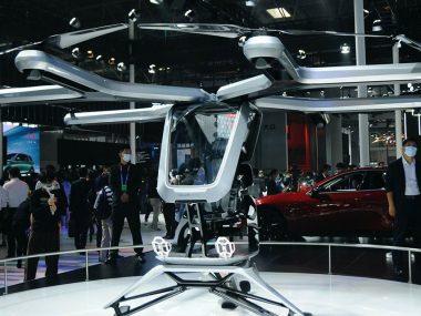 В Китае презентовали новый дрон для перевозки людей