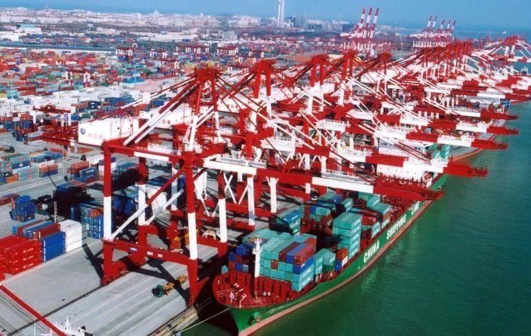 Оборот груза в китайских портах вырос на 2.2%