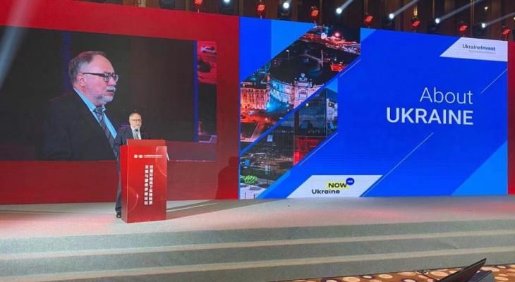Камышев презентовал инвестиционный отчёт по Украине китайским предпринимателям
