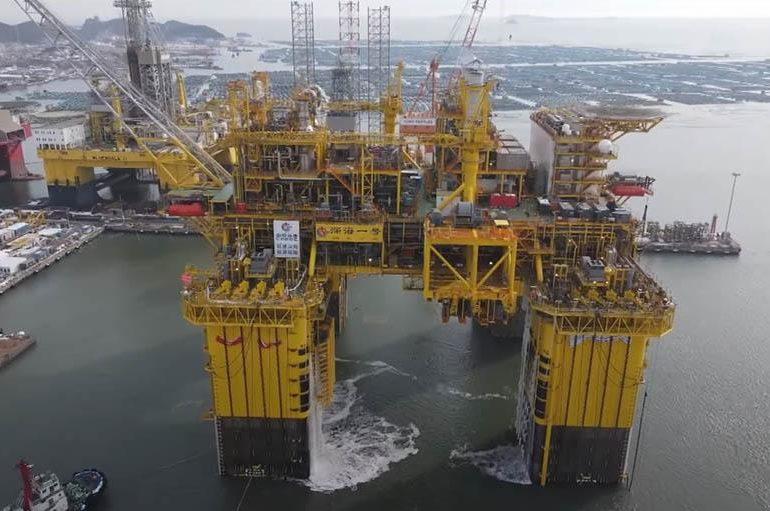 Китайская CNOOC построила глубоководную газодобывающую платформу
