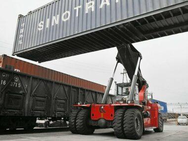 Китай и Казахстан открыли на границе новый контейнерный терминал
