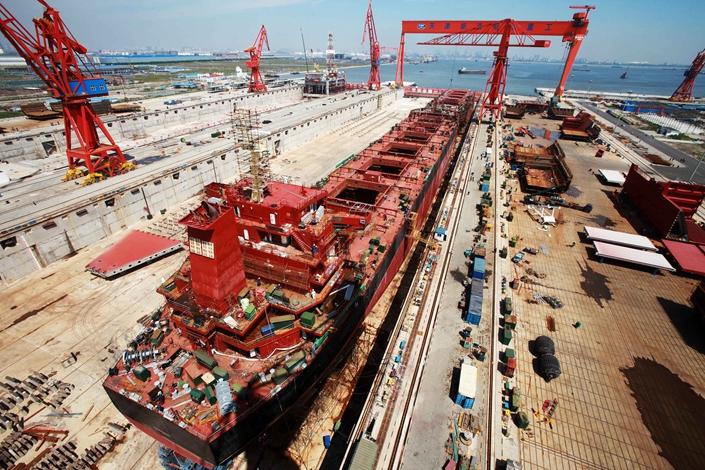China State Shipbuilding Corp переносит штаб-квартиру в Шанхай после слияния
