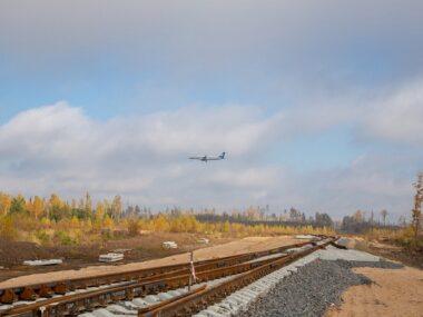В «Великом камне» строят железнодорожную ветку к бимодальному контейнерному терминалу